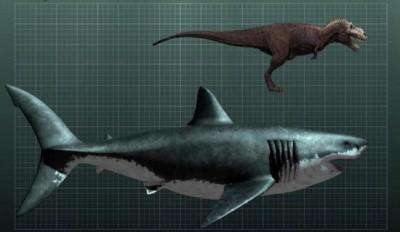 megalodon vs trex